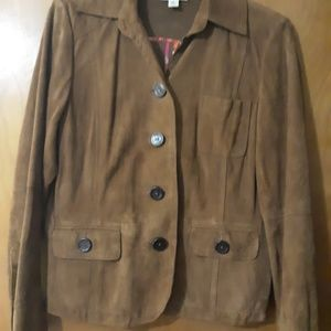 Talbots Jacket 100 % Leather Suede